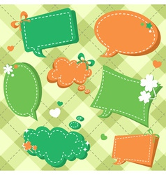 Lucky Saint Patricks day sale stickers and tags vector image