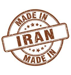 Made in iran brown grunge round stamp vector