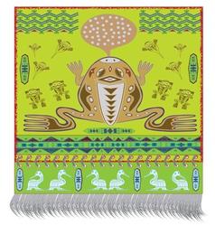 Native american frog vector