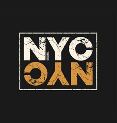 Nyc original t-shirt and apparel design with vector