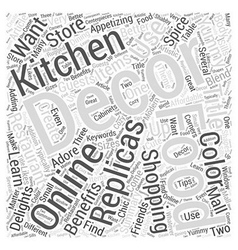 Online shopping delights decorate your kitchen or vector