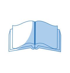 open book literature encyclopedia learn vector image