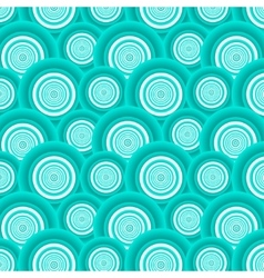 Pattern of azure circles vector