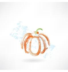 pumpkin grunge icon vector image vector image