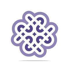 Purple connectin element design icon vector