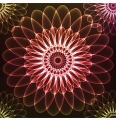 Red shining cosmic flower vector image vector image