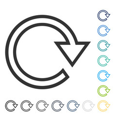 Rotate right icon vector