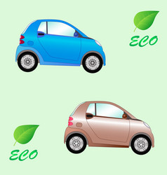 Set of environmentally friendly electric cars vector