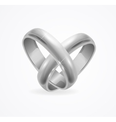 Silver Wedding Ring vector image vector image