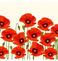 The poppy flowers vector