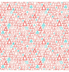 Triangle shapes pattern vector image vector image