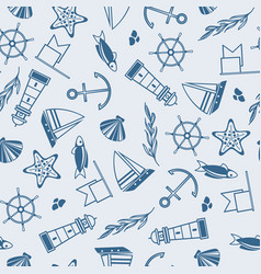 yachting seamless pattern vector image vector image