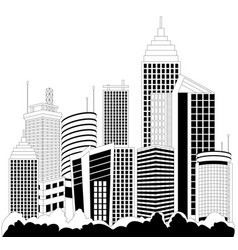 Modern metropolis skyscrapers vector