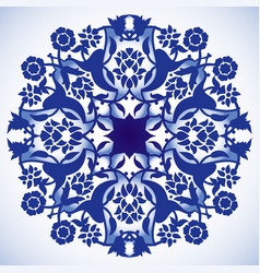 Laser cut floral arabesque circle ornament vector