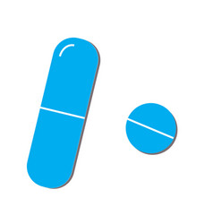 Pills icon in trendy flat style isolated on white vector