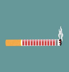 Cigarette and health resource retro video game vector
