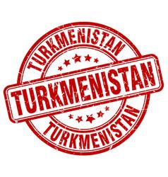 Turkmenistan red grunge round vintage rubber stamp vector
