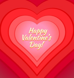 Valentine day heart greeting card template vector