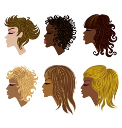 woman hair vector image