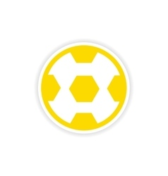 Paper sticker brazilian football on white vector
