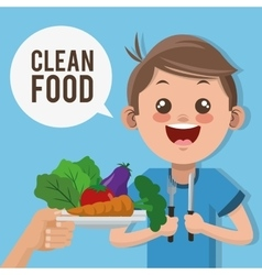Clean food design vector