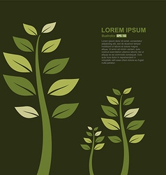 Abstract composition of tree leaves vector