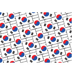 Abstract south korea flag or banner vector