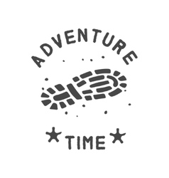 Adventure theme emblem vector