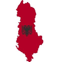 Albania map vector image