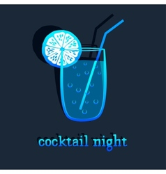 background with cocktail vector image