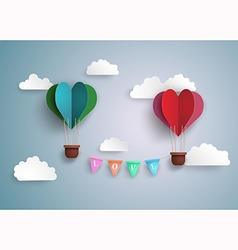 balloon heart vector image vector image