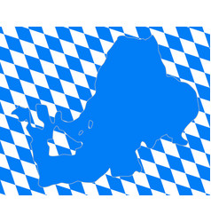 bavarian flag and map of lake chiemsee vector image vector image