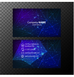 Businesscard template with blue light pattern vector