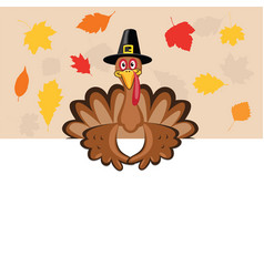 card for thanksgiving day with turkey vector image