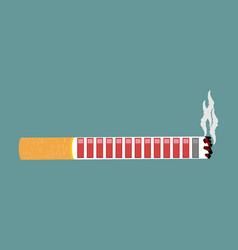 Cigarette and health resource retro video game vector