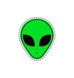 Comic creative fashion alien vector