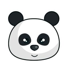 Cute bear panda animal kawaii style vector