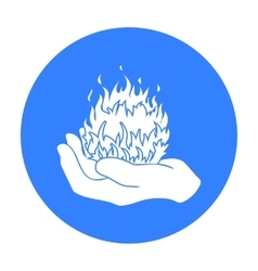 Fire spell icon in black style isolated on white vector