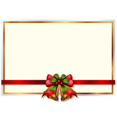 frame design with christmas bells vector image vector image