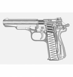 gun illustration vector image