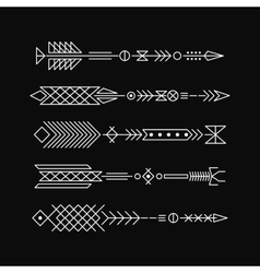 Hipster arrows abstract elements for tattoo and vector