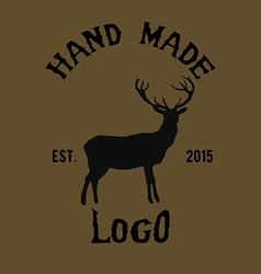 Hipster logotype with deer vector image