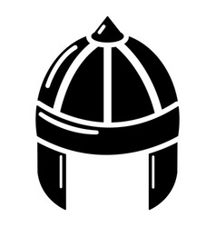 knight helmet guard icon simple black style vector image vector image