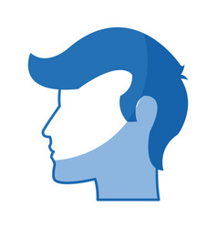 Man head silhouette profile male avatar icon vector