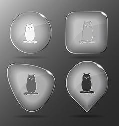 Owl glass buttons vector