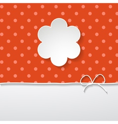 red background with frame vector image vector image