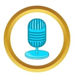 Retro microphone icon vector