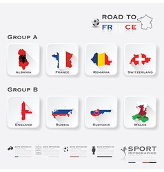 Road to france football tournament sport vector
