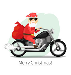 santa claus carries a sack of gifts on coo vector image