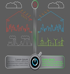 Save the world with wind energy concept vector image